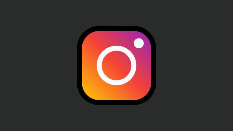 A imagem apresenta o logotipo do Instagram em um fundo preto